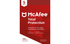 DigiiStore McAfee Total Protection 5 Devices Gift Card